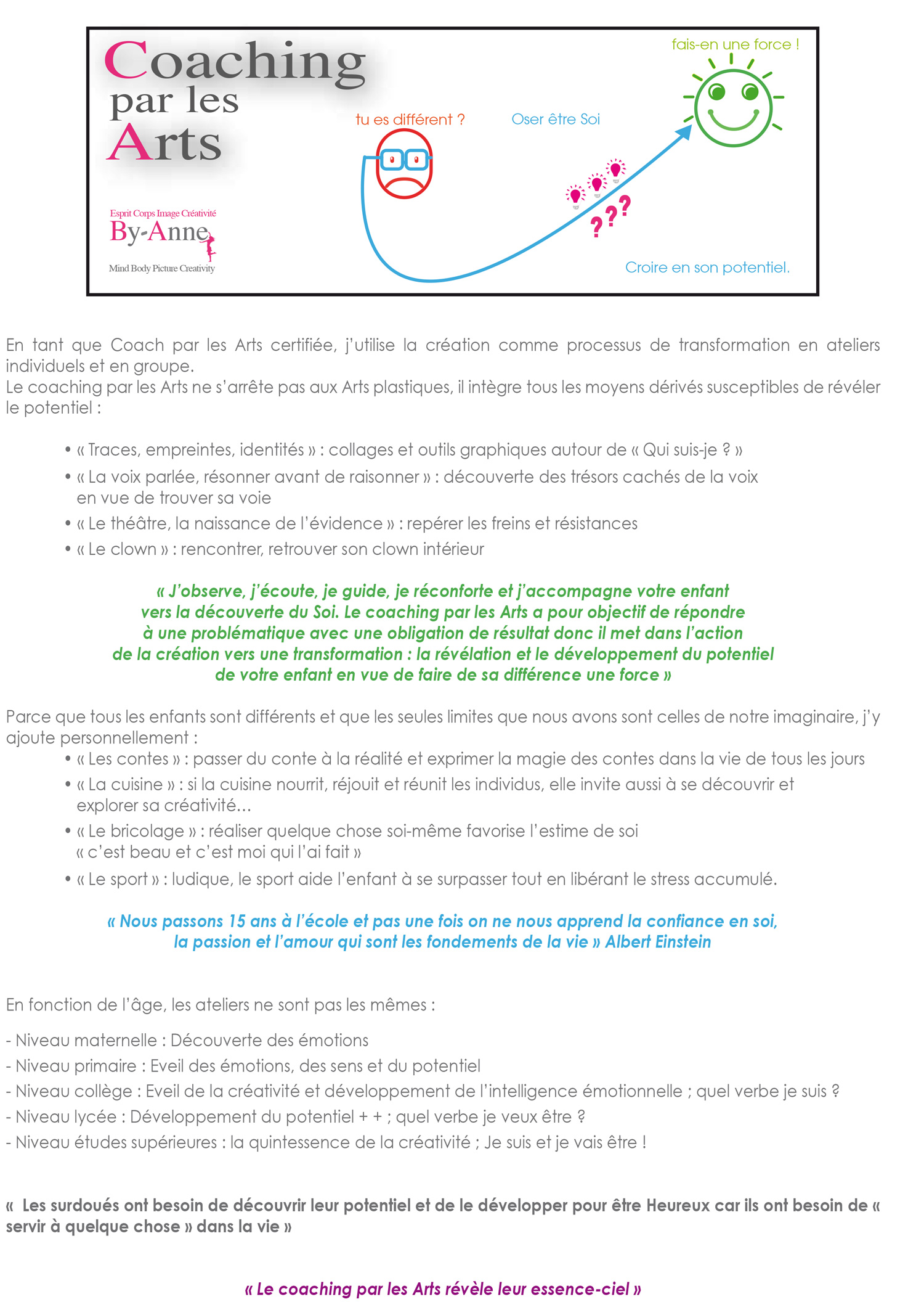 coaching par les arts
